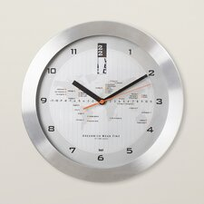 """11"""" GMT Wall Clock with World Map"""