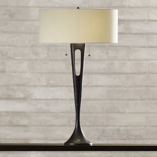 "Watkinsville 2 Light 31"" H Table Lamp with Drum Shade"