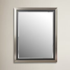 Silver and Black Framed Wall Mirror