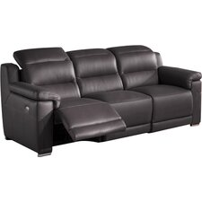 Lora Leather Reclining Loveseat