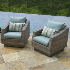 Alfonso Club Chair with Cushions (Set of 2)