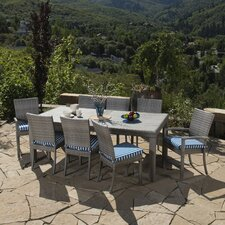 Alfonso 9 Piece Dining Set with Cushions
