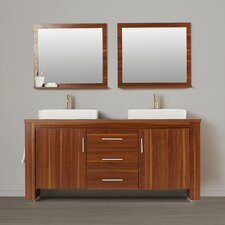 "Tadwick 72"" Double Bathroom Vanity Set with Mirror"