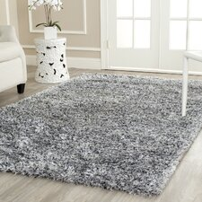 Kenneth Gray/Black Shag Area Rug