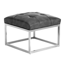 Alexander Leather Small Ottoman