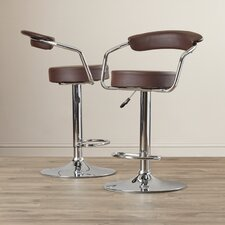 Compton Martin Adjustable Height Swivel Bar Stool (Set of 2)