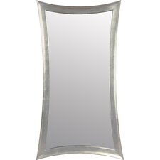 Concave Silver Leaf  Leaner Mirror