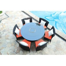 Tony 7 Piece Dining Set with Cushion