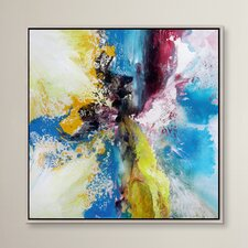 Color Patch Framed Painting Print on Wrapped Canvas
