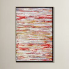 Coral Course Framed Painting Print on Canvas