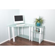 Hector Corner Computer Desk with Right Extension Table