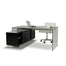 Gerardo Executive Desk with Storage Cabinet