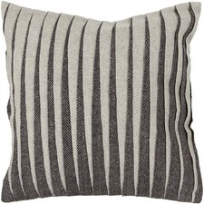 Haskins Textured Contemporary Wool Throw Pillow