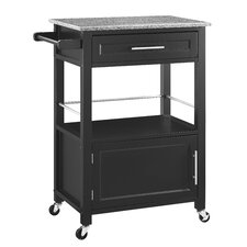 Harvey Kitchen Cart with Granite Top
