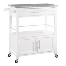 Mason Kitchen Cart with Granite Top