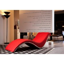Rodolfo Leather Chaise Lounge
