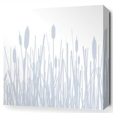 Jax Cattails Stretched Graphic Art on Wrapped Canvas in Blue