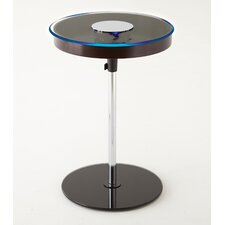 Charo Round End Table with LED Light