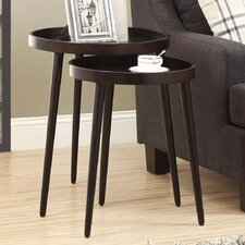 Deltha 2 Piece Nesting Table Set