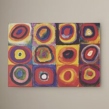 Lito Square with Concentric Circles Print on Canvas