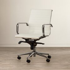 Kilraghts Mid-Back Leather Office Chair