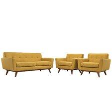 Saginaw 3 Piece Living Room Set