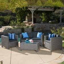 Dinah 4 Piece Deep Seating Group with Cushion