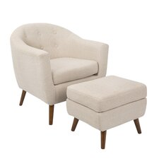 Laurence Chair and Ottoman
