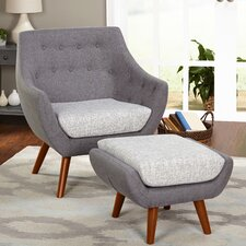 Murfreesboro 2 Piece Arm Chair and Ottoman Set