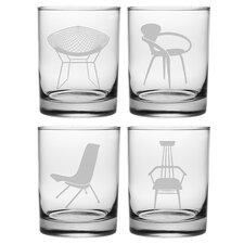 La Plaza Chairs Old Fashioned Glass Set