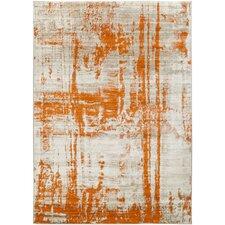 Dahl Light Gray/Burnt Orange Area Rug