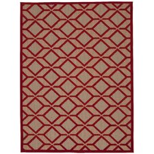 Taschen Red Indoor/Outdoor Area Rug