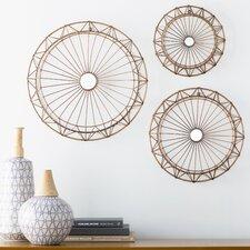 3 Piece Spiral Metal Wall Décor Set