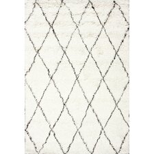 West Hand-woven Moroccan Shag Ivory Area Rug
