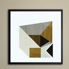 Mustard Geo Framed Wall Art