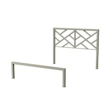 Palm Hills Metal Headboard and Footboard