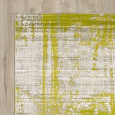 Dahl Light Gray/Lime Area Rug