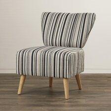 Honolulu Stripe Print Slipper Chair