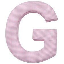 Gingham Fabric Wall Plaque