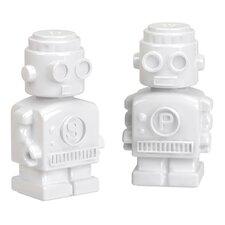 2-tlg. Salz- und Pefferstreuer-Set Robot