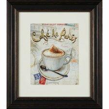 Gerahmter Grafikdruck Café De Paris