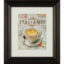 Gerahmter Grafikdruck Caffé Italiano