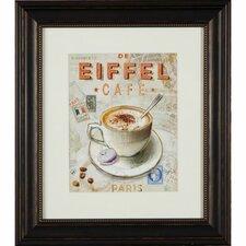 Gerahmter Grafikdruck De Eiffel Cafe