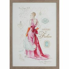 Gerahmter Grafikdruck History Of Fashion