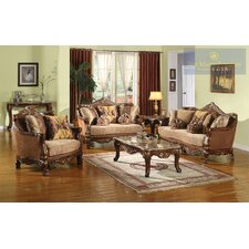 2 Piece Traditional Sofa and Chair Set