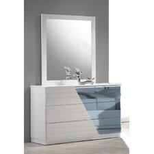 Manchester 3 Drawer Dresser with Mirror