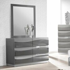 Leon 6 Drawer Dresser with Mirror