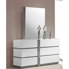 Seville 6 Drawer Dresser with Mirror