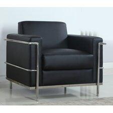 Modern Arm Chair with Chrome Frame