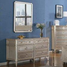Palais 6 Drawer Dresser with Mirror